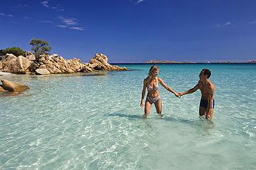 Couple Spiaggia Capriccioli Costa Smeralda Sardinia Italy