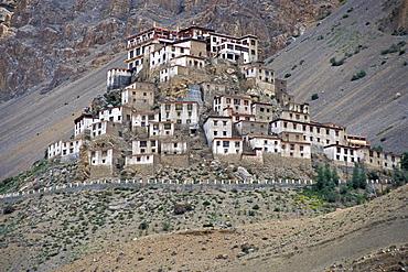 Buddhist Ki or Key Monastery or Gompa, Spiti Valley, Lahaul and Spiti district, Indian Himalayas, Himachal Pradesh, North India, India, Asia