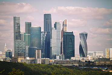 Skyline Moscow City, Moscow, Russia, Europe