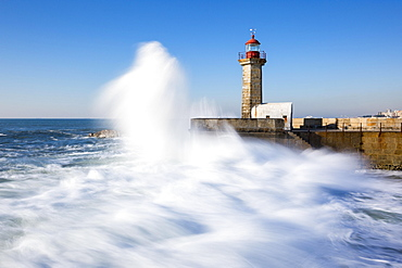 Lighthouse Foz do Douro, Grande Porto, Norte, Portugal, Europe