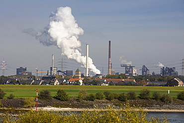 Steel mill, metallurgical plant, Huttenheim, Duisburg, Ruhr Area, North Rhine-Westphalia, Germany, Europe
