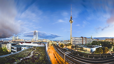 City centre with TV tower Alex, Berlin Mitte, Berlin, Germany, Europe