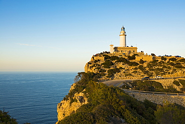 Lighthouse, Cap Formentor, Port de Pollença, Serra de Tramuntana, Majorca, Balearics, Spain, Europe
