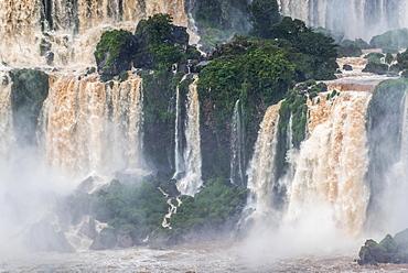 Waterfall Bosetti, Iguazú Falls, Iguazú River, border between Brazil and Argentina, Foz do Iguaçu, Paraná, Brazil, South America