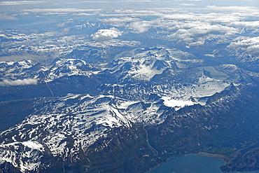 Spitsbergen, aerial view, Svalbard archipelago, Norway, Europe