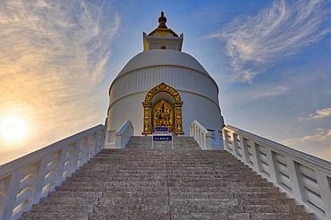 World Peace pagoda, Pokhara, Nepal, Asia