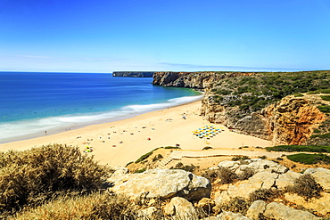 Beliche Beach next to Sagres, Saint Vincent Cape, Algarve, Portugal, Europe