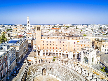 Historic city center of Lecce in Puglia, Italy, Europe