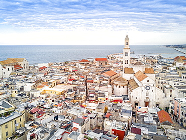 Panoramic view of old town, Bari, Puglia, Italy, Europe