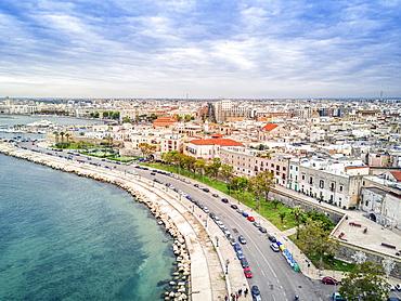 Panoramic view old town, Bari, Puglia, Italy, Europe