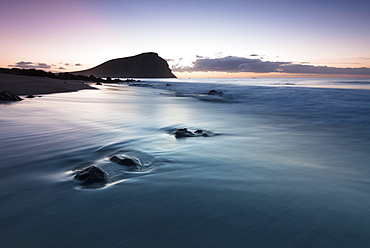 Beach, Playa de la Tejita, morning atmosphere, Tenerife, Canary Islands, Spain, Europe