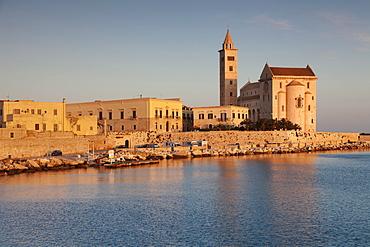 Historic centre, San Nicola Pellegrino Cathedral, morning light, Trani, Le Murge, Barletta-Andria-Trani Province, Apulia, Italy, Europe