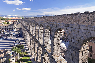 Roman aqueduct, UNESCO World Heritage Site, Segovia, Castilla y Leon, Spain, Europe