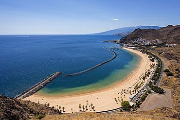 Beach Playa las Teresitas, Anaga, Tenerife, Canary Islands, Spain, Europe