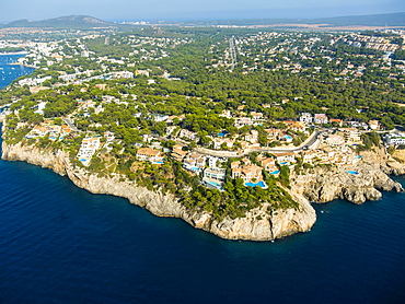 Aerial photograph, view of Santa Ponca, Mallorca, Balearic Islands, Spain, Europe