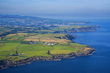 Aerial view of the Isle of Man, United Kingdom, Europe
