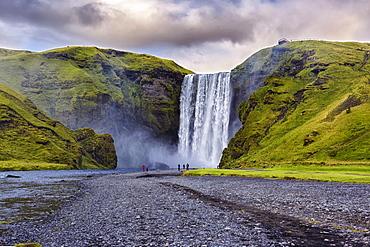 Waterfall Skógafoss, Skogar, Suðurland, Iceland, Europe