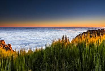Sunrise with sea of mist, Pico de Arieiro, Funchal, Madeira