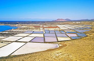 Salt lakes, Lanzarote, Canary Islands, Spain, Europe