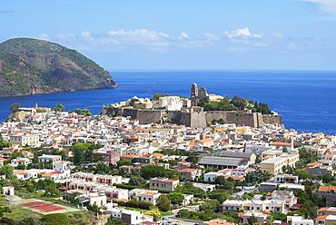 Lipari Town, Lipari Island, Aeolian Islands, Italy, Europe
