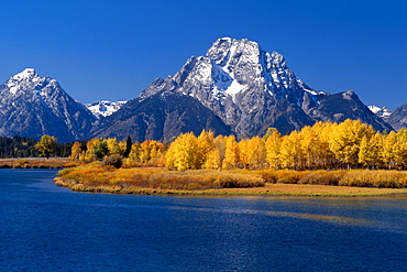 Oxbow Bend and Teton Range, Grand Teton National Park, Wyoming, USA, North America