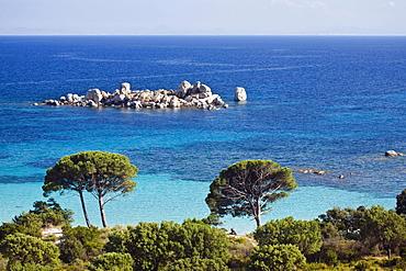 Palombaggia beach near Porto Vecchio, Corsica, France, Europe