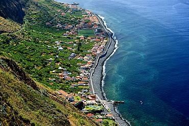View of Paul do Mar, West Coast, Madeira, Portugal, Europe