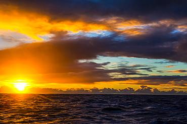 Sunrise over Tau Island, Manua Islands, American Samoa, Oceania