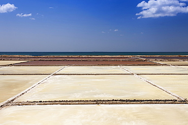 Salt fields for salt production, Ninh Thuan province, Vietnam, Asia