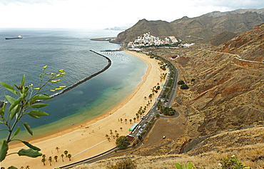 Sandy beach of Playa de las Teresitas, San Andres, La Montanita, Tenerife, Canary Islands, Spain, Europe
