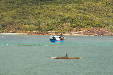 Fishing boats at Sao Bien, Ninh Thuan, Vietnam, Asia