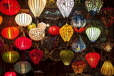 Shop with lanterns, Hoi An, Vietnam, Asia