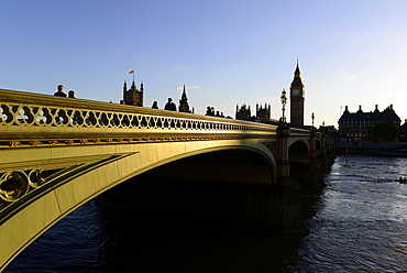 Big Ben and Houses of Parliament, Westminster Bridge, London, England, United Kingdom, Europe