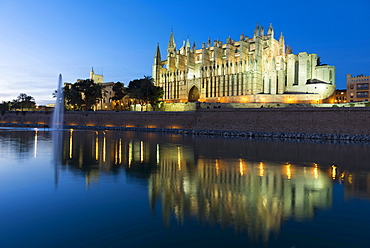 Cathedral of Santa Maria of Palma or La Seu, Palma de Mallorca, Mallorca, Balearic Islands, Spain, Europe