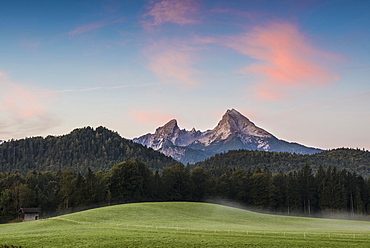 Watzmann, sunrise, Berchtesgadener Land, Upper Bavaria, Bavaria, Germany, Europe