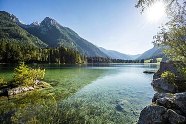 Hintersee, Ramsau, Berchtesgaden National Park, Berchtesgadener Land district, Upper Bavaria, Bavaria, Germany, Europe