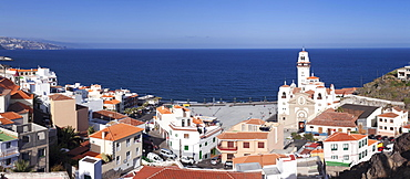 View of the city with the Basilica de Nuestra Senora, Candelaria, Tenerife, Canary Islands, Spain, Europe