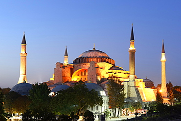 Hagia Sophia, Ayasofya, UNESCO World Heritage Site, European side, Istanbul, Turkey, Asia