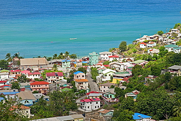 Fishing village on the coast, Canaries, Saint Lucia, Central America