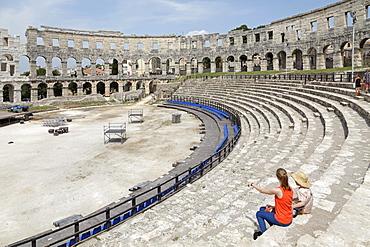 Pula Arena, amphitheatre, Pula, Istria, Croatia, Europe