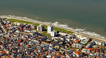 Aerial view, Norderney, island in the North Sea, East Frisian Islands, Lower Saxony, Germany, Europe