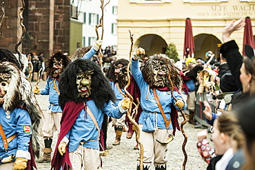Carnival parade on Carnival Monday, Freiburg im Breisgau, Black Forest, Baden-Wurttemberg, Germany, Europe