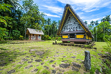 Oldest Bai of Palau, a house for the village chiefs, Babeldaob, Palau, Oceania