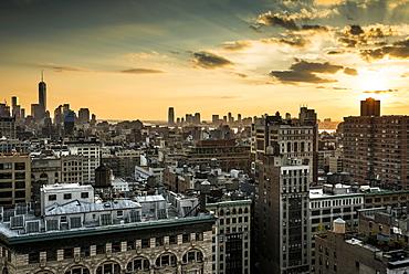 Skyline Midtown and Downtown Manhattan, New York, United States, North America