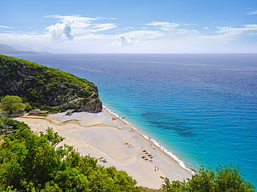Gjipe Beach, between Dhermi and Himara, Himare, Albanian Riviera, Ionian Sea, Qark Vlore, Albania, Europe