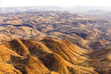 Aerial view, mountain landscape in the Khomas Highlands, Namibia, Africa