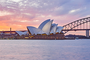 Sydney Opera at Sunset, Sydney, New South Wales, Australia, Oceania
