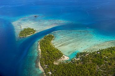 Aerial of Rangiroa, Tuamotu-Archipel, French Polynesia, Oceania