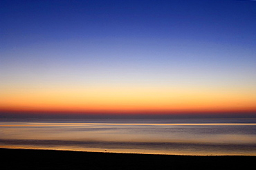 Afterglow, North Sea, Texel, The Netherlands, Europe