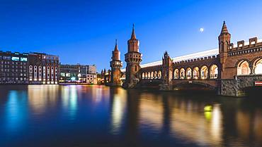 Oberbaum Bridge at Warschauer Strasse, Berlin, Germany, Europe